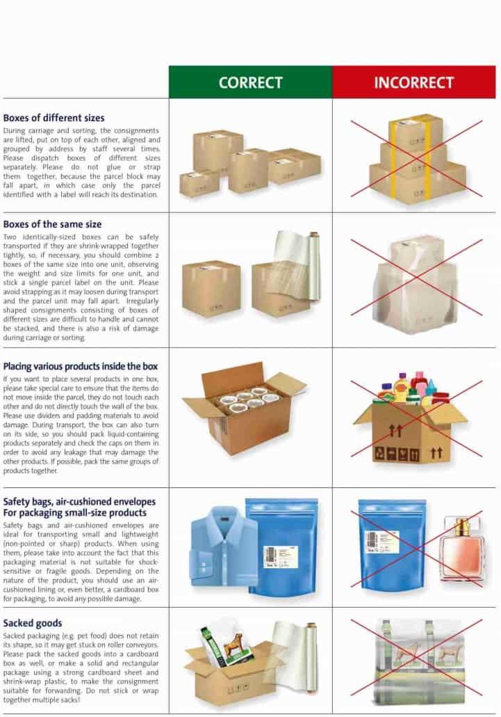 csomagolási tippek